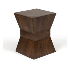 MOD - Winona Geometric Block Side Table - Side Tables and End Tables