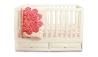 Baby Mile Nala 3-in-1 Convertible Crib, White