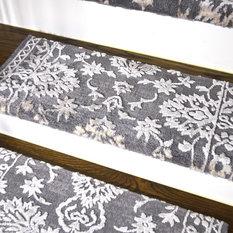 Set Of 3 Anatolia Gray Bullnose Carpet Stair