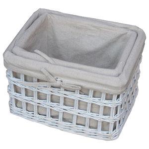 Provence Open Weave Wicker Work Baskets, Set of 2