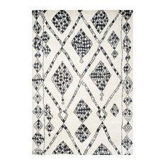 Safavieh - Safavieh Levona Hand Knotted Rug, Ivory and Black, 8'x10' - Area Rugs