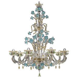 Celeste Murano Glass Chandelier