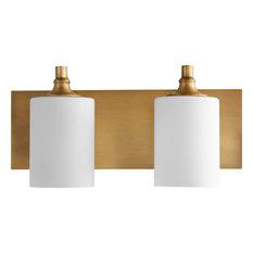 Celeste 2-Light Vanity Fixture, Aged Brass