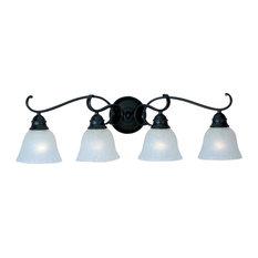 Four Light Black Ice Glass Vanity