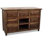 FoxDen Decor - Reclaimed Barnwood Vanity With 7-Drawers - *Please Note*