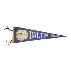 "Consigned, Baltimore MD Felt Flag, 5""x26"""