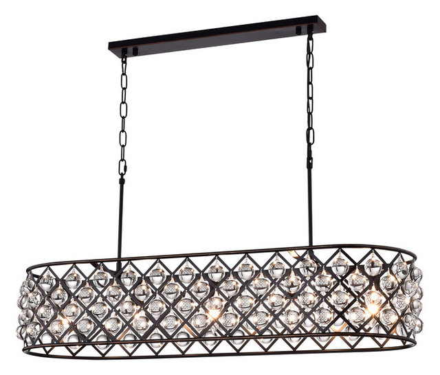 Laila Crystal Chandelier, Oil Rubbed Bronze