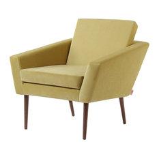 Supernova Lounge Chair, Lemon Yellow