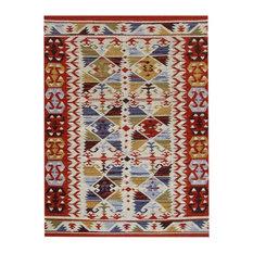 Southwestern Wool Floor Rug, Multicoloured, 180x120 cm