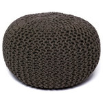 """Anji Mountain - Natural Jute Round Pouf 16""""x16"""" - This pouf brings some stylish versatility to your living space.  Perfectly sized for duty as a stool or small ottoman and ready to switch gears at a moments notice.  It sits nice and firm for excellent support yet offers a touch of comfort with a natural jute cover."""