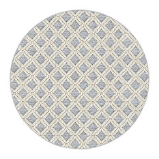 Bay Head Indoor/Outdoor Carpet, Home Accent Area Rug, Textured Flatweave, Round