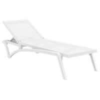 Compamia Pacific Sling Chaise Lounges, Set of 2, White