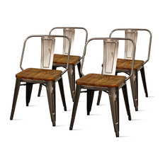 Brian Side Chairs Set Of 4 Gunmetal