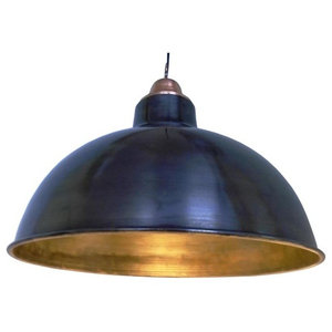 Polished Industrial Pendant Light, Large