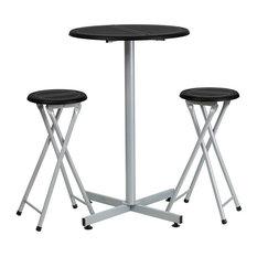 "Estella 24""x37.5"" Bar Table & 2 Backless Bartool Set"