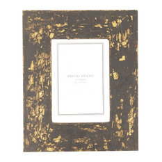 BLACK AND GOLD PHOTO FRAME