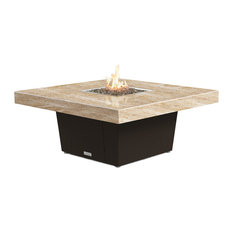 Square Fire Pit Table, 48x48, Chat Height, Propane, So Cal Special Top, Bronze