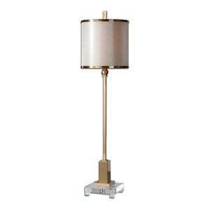 Uttermost Villena Buffet Lamp, Brushed Brass