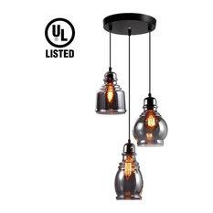 TORCHSTAR - Vintage Glass Pendant Light Fixture - Pendant Lighting