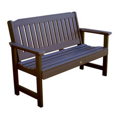Lehigh Garden Bench, Weathered Acorn, 4'