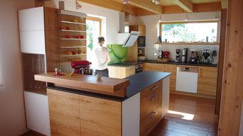 Küche in Eiche massiv