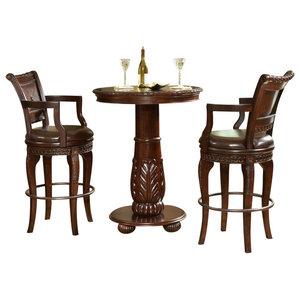 COLLIOURE Table + 2 chaises de jardin en bois recyclé et métal effet ...