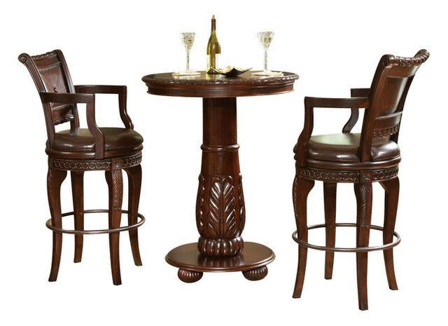 steve silver antoinette 3 piece pub table set - 3 Piece Pub Table Set