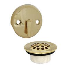 danco trip lever tub drain trim kit with overflow polished brass tub and