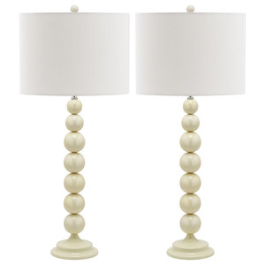 Safavieh Charlie Table Lamps, Set of 2, Off-White