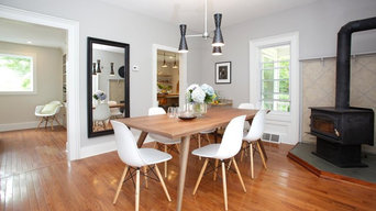 Staging for HGTV episode BEFORE & AFTER photos