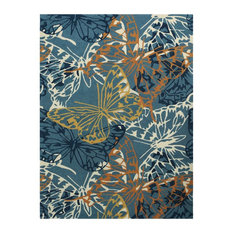 Amer Rugs Inc. - Piazza 10 Blue Multi-Purpose Area Rug 8'x11' by Amer Rectangle - Outdoor Rugs