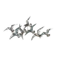 Beaux Arts Flying Birds Metal Wall Art, 57x121 cm