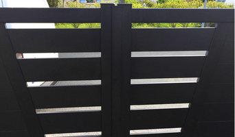 Installation portail Alu portes battantes & portillon