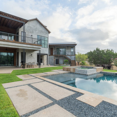 Inspiration for a modern exterior home remodel in Charlotte