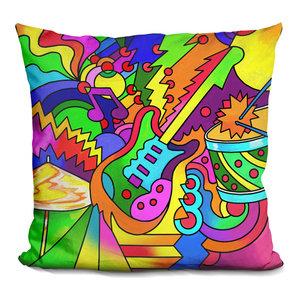 LiLiPi Pop-Art-Guitar-916 Decorative Accent Throw Pillow