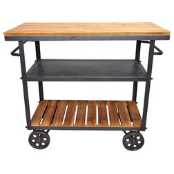 Industrial Bar Carts by Pangea Home