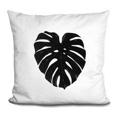 Monstera 4 Decorative Accent Throw Pillow