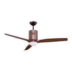 MrKen Pilot 3D Designer DC Ceiling Fan With LED Light, Rubbed Bronze, 152 cm