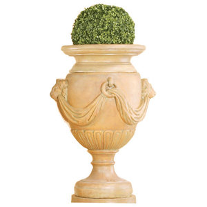 Palazzo Urn Cast Stone Outdoor Garden Planter Traditional Outdoor Pots And Planters By Tuscanbasins Houzz