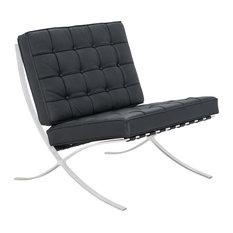Melba Lounge Tufted Modern Chair, Black