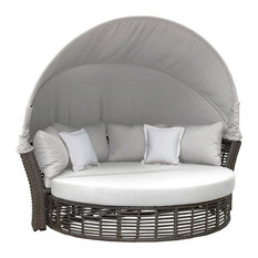 Panama Jack Graphite Canopy Daybed, Cushions, Sunbrella Spectrum Graphite