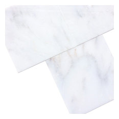 "6""x6"" Arabescato Carrara Polished Marble Floor and Wall Tiles, Set of 120 tiles"