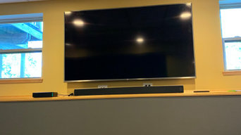 Basement TV and Surround Sound Install