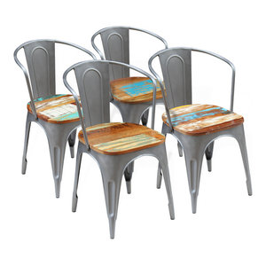 vidaXL Solid Reclaimed Wood Dining Chairs, 51x52x80 cm, Set of 4