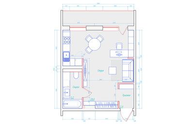 Поиск планировки: 4 сценария жизни для новостройки 37 кв.м