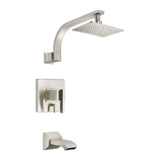 Danze Sirius Tub and Shower Faucet, Brushed Nickel, D512044BNT