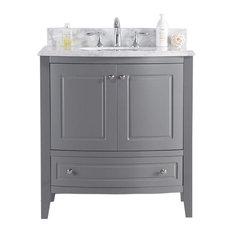 Estella Collection 32-inch Grey Vanity With Countertop