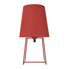 "40172-21, 13"" Metal Accent Table Lamp, Red Painted"