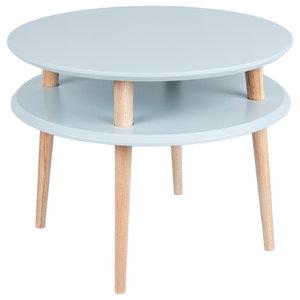 UFO Round Scandinavian Coffee Table, Light Grey