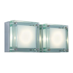 2-Light Wall Sconce Quattro Line Voltage Series 306, Glass